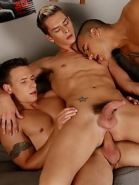 Dirty Fuckers: Dick & Tom double-fuck Brit-boy Connor Levi & then jizz all over his face!