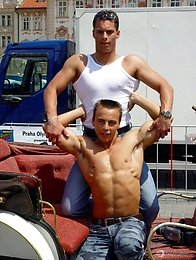 Two muscled Czech boys